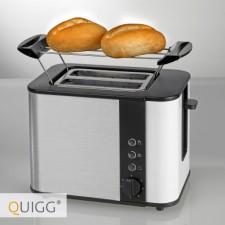 aldi quigg design edelstahl toaster im test. Black Bedroom Furniture Sets. Home Design Ideas