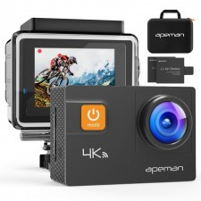 Test APEMAN Action Kamera WIFI sports 4K camera