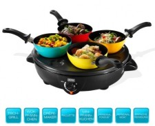 Test Mini-Wok-Sets - Beem Party-Platte 4 in 1 Black Roc D2000725