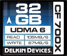 Test Compact Flash (CF) - Delkin Better CF 105MB/s 700x UDMA 6