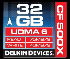 Test Compact Flash (CF) - Delkin Good CF 75MB/s 500x UDMA 6