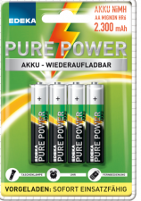 Test Aufladbare Batterien - Edeka Pure Power Akku 2300 mAh