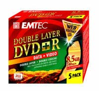 Test DVD-R/+R Double Layer (8,5 GB) - Emtec DVD+R Double Layer 2.4x