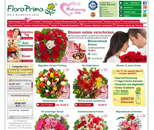 Blumenversender Floraprima Im Vergleich Und Test Bei Etestde