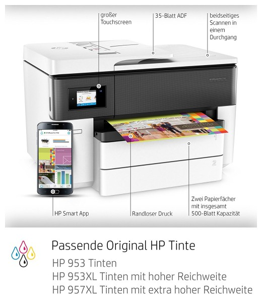 HP OfficeJet Pro 7740 A3 Test - 0