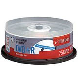 Test DVD-R - Imation white inkjet printable DVD-R 8x