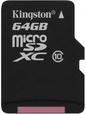 Test Secure Digital (SD) - Kingston 64 GB Class 10 UHS-I Micro-SDXC
