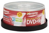 Test DVD-R/+R Double Layer (8,5 GB) - Memorex Prof. Double Layer DVD+R 2,4x