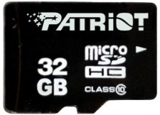 Test Secure Digital (SD) - Patriot 32 GB Class 10 LX Series Micro-SDHC