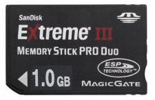 Test Memory Stick - Sandisk Extreme III Memory Stick PRO Duo 1.0 GB