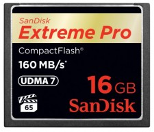 Test Compact Flash (CF) - Sandisk Extreme Pro CF 160MB/s UDMA 7