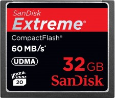 Test Compact Flash (CF) - Sandisk Extreme Pro CF 60MB/s UDMA