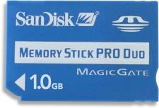 Test Memory Stick - Sandisk Memory Stick PRO Duo 1 GB