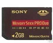Test Memory Stick - Sony Memory Stick PRO Duo 2 GB
