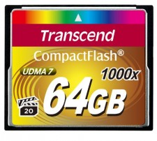 Test Compact Flash (CF) - Transcend Compact Flash 1000x 64GB