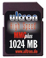 Test Multi Media Card (MMC) - Ultron MMC plus High Speed