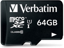 Test Secure Digital (SD) - Verbatim 64 GB Class 10 USH-I Micro-SDXC