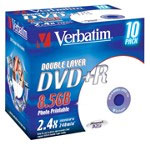 Test DVD-R/+R Double Layer (8,5 GB) - Verbatim Photo Printable DVD+R DL 2,4x