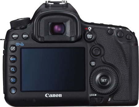 Canon EOS 5D Mark III Rückseite Display Tasten