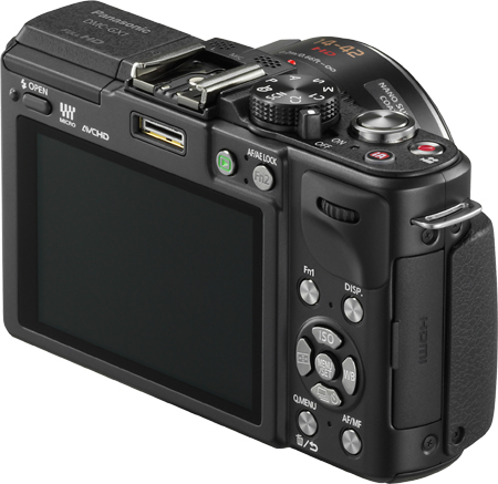 Panasonic Lumix DMC-GX1 Rückseite Display Tasten Einstellrad