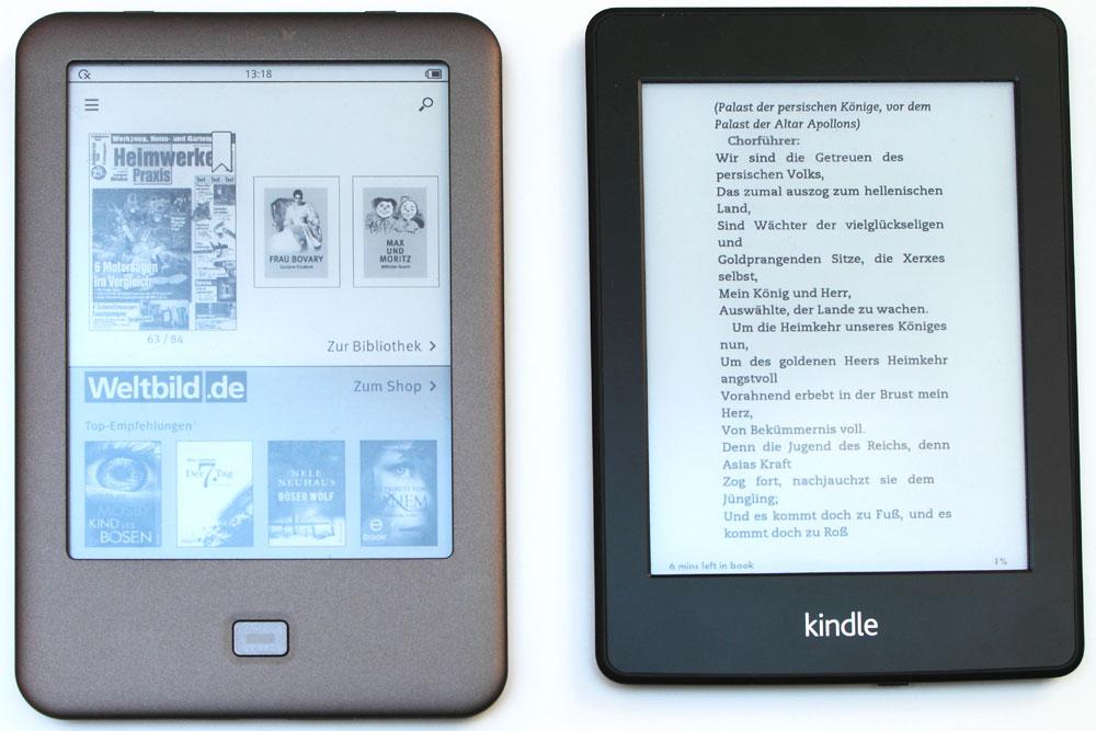 tolino shine ebook reader im test. Black Bedroom Furniture Sets. Home Design Ideas