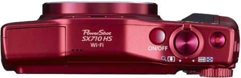 Canon PowerShot SX710 HS Rot Oberseite Top