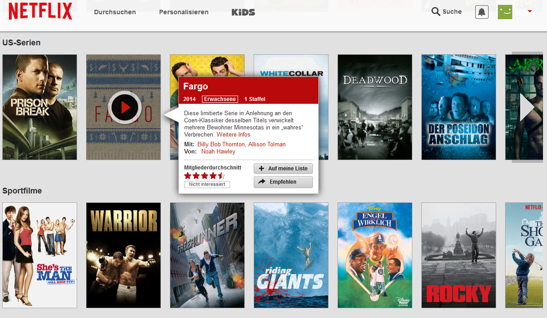 Netflix Filmauswahl Deutschland